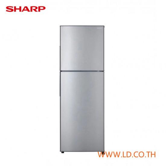 SHARP ตู้เย็น 2 ประตู ความจุ 7.9 คิว รุ่น SJ-Y22T-SL ระบบฟอกอากศพิเศษ กำจัดกลิ่น POPEYE Series สีเงิน