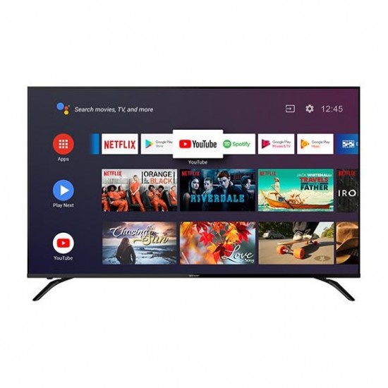 SHARP 50 นิ้ว รุ่น 4T-C50BK1X Android TV ระบบปฎิบัติการ Android 9.0