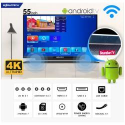 Worldtech Smart TV  55 นิ้ว  รุ่น Smart TV 55″  ระบบแอนดรอยด์ ความคมชัดระดับ 4K